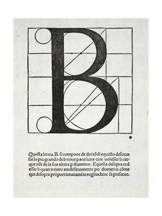 B, Illustration from 'Divina Proportione' by Luca Pacioli (C.1445-1517), Originally Pub. Venice,… Giclee Print by Leonardo da Vinci at Art.com