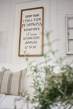 Cozy Sunroom Decor for Fall is part of Cozy home Art - I'm easing our home into the new season by adding some cozy sunroom decor for fall! See how to easily bring fall decor into any space! Plus a fall giveaway!