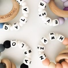 Personalised teething rings - these are perfect for a new bub gift