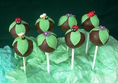 Garden cake pops - For all your cake decorating supplies, please visit craftcompany.co.uk