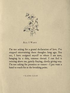 All I Want by Lang Leav