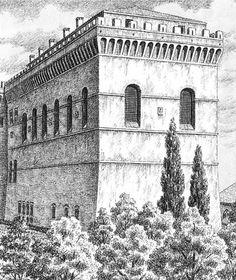 Cappella sistina, aspetto originario, stampa del XIX secolo - Sistine Chapel - Wikipedia, the free encyclopedia