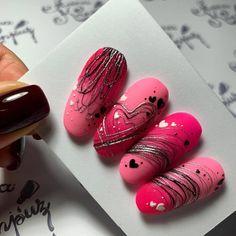 Cute Nail Designs For Spring – Your Beautiful Nails Cute Acrylic Nail Designs, Cute Acrylic Nails, Beautiful Nail Designs, Fancy Nails, Pink Nails, Pretty Nails, Gel Nails, Valentine Nail Art, Short Nails Art