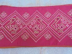 Beautiful Hand Embroidered Silk Tribal Sari Saree Border. by LallibhaiIndia on Etsy