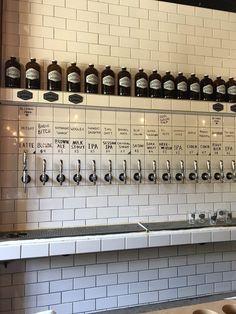 Brewery Decor, Brewery Interior, Brewery Design, Pub Interior, Pub Design, Craft Beer Shop, Beer Store, Beer Taps, Brew Pub