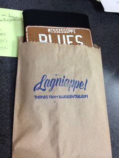 One of our #lagniappe bags! This one's got a koozie and is destined, actually, for the south of France! #frenchblues