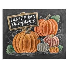 Pick-Your-Own Pumpkins - Print #Fall #Fall-Halloween #Friendship