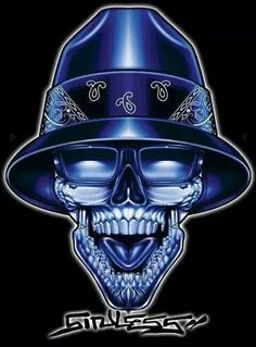 Blue rules Chicano Tattoos, Skull Tattoos, Body Art Tattoos, Sleeve Tattoos, Chicano Love, Chicano Art, Graffiti Drawing, Art Drawings, Arte Lowrider