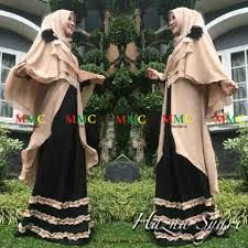 gamis hanna syar'i black ukuran fit xl 190.000 bebas ongkir. grab it first. pashmina lebar,  #gamis #busana #busanamuslim