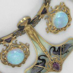Lalique opals amethysts enamel gold swans