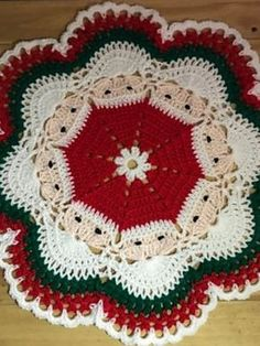 Santa's Around For Christmas' Decorative Doily Free Crochet Pattern - Free Crochet Patterns Christmas Afghan, Crochet Christmas Gifts, Christmas Crochet Patterns, Crochet Doily Patterns, Christmas Knitting, Crochet Patterns Amigurumi, Crochet Gifts, Crochet Doilies, Crochet Mask