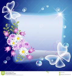 pergaminos de flores png - Buscar con Google