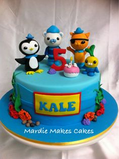 Octonauts Cake  www.facebook.com/MardieMakesCakes