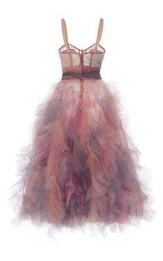 Ruffled Cocktail Dress by MARCHESA for Preorder on Moda Operandi