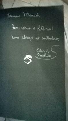 Autografo de Eder A. Traskini da Bienal do Livro