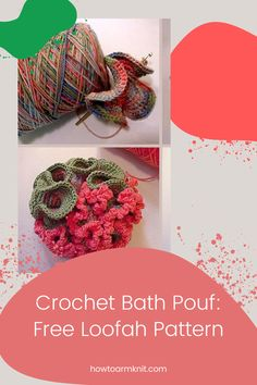 Look at these Crochet Bath Pouf: Free Loofah Pattern These crochet bath poufs are so cute and fun to make! These crochet bath pouf patterns are just so awesome you are going to love this! #CrochetBathPouf:FreeLoofahPattern #crochetbathpouf #crochet #bathpouf #patterns Crochet Pouf, Free Crochet, Types Of Yarn, Cottage Design, Bath Design, Free Pattern, Crafts For Kids, Crochet Necklace, Daisy