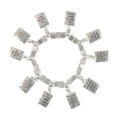 Heirloom Finds Silver Tone Ten Commandments Dangle Charm Stretch Bracelet, http://www.amazon.com/dp/B00GT3V6RI/ref=cm_sw_r_pi_awdm_WyIotb15JZKA1