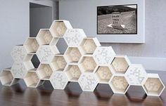 """BAIRES Deco Design ... Diseño de Interiores, Arquitectura y Decoración en un solo Sitio!: La Rucha, estantería """"panel de abejas"""" de El Mostapha Ouhlani"""