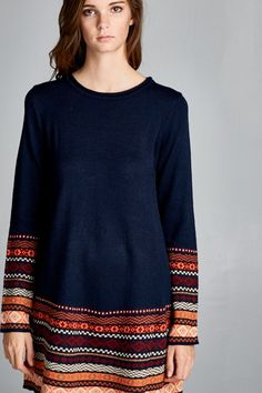 long knit A-Line sweater. just begging for fall booties.