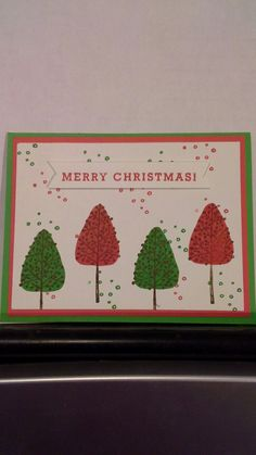Totally Trees Stampin Up using watermelon wonder & cucumber crush