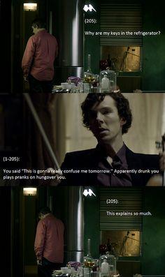 Haha. SO need to watch this. I love Martin Freeman. I imagine he makes a fantastic Watson!:)