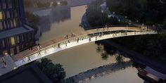 Graceful. Also feels a bit like chicago.   pedestrian bridge material studies - Google Search