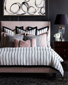 Romantic Bedroom Decor Ideas to Make Your Home More Stylish on a Budget - The Trending House Bedding Sets Online, Luxury Bedding Sets, Bed Linen Design, Bed Design, Romantic Bedroom Decor, Simple Bed, Luxury Bedding Collections, Bedroom Layouts, Bedroom Ideas