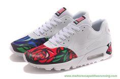 Vermelho Azul Rosa 613841-151 Nike Air Max 90 Masculino