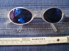1 blau weiße Sonnenbrille neu Nr.223 Brille Sunglasses Alien Style