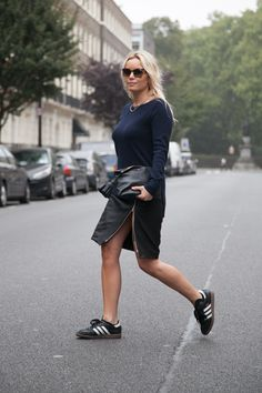 Amy Bannerman, Instyle UK Fashion Editor wears our zip leather pencil skirt. Photographed by Vicki Adamson.