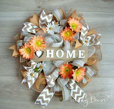 Summer wreath, Summer door wreath, Sommer türkranz , Home, Door decoration by TrendyDecorShop on Etsy