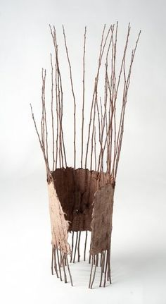 Sipapu by Meg Viney. Land Art, Organic Art, Paperclay, Weaving Art, Environmental Art, Nature Crafts, Wire Art, Art Plastique, Wood Sculpture