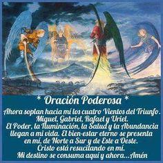 Oración poderosa St Michael Archangel Prayer, Archangel Prayers, God Prayer, Power Of Prayer, Faith Prayer, Catholic Prayers In Spanish, Seven Archangels, Prayer For Protection, Miracle Prayer