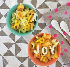 Alphabet Fruit Salad / from the Oh Joy book!