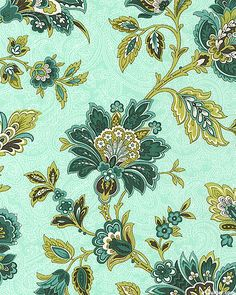 Palm Court - Gypsy Floral - Mint Green. From eQuilter.com