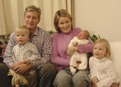 Prince Philippe and Princess Mathilde welcome Prince Emmanuel Leopold Guillome, their third child at Erasmus Hospital on 6 October 2005. The new arrival joined Princess Elisabeth, who is second in line to the throne, and her younger sibling, Prince Gabriel