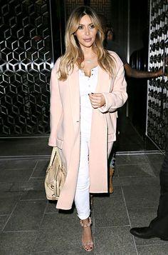 Sept. 20, 2013. Kim Kardashian in a coat by Celine.