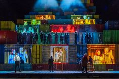 Rise and Fall of the City of Mahagonny from the Royal Opera House. Production by John Fulljames. Sets by Es Devlin.