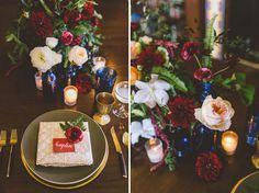 Oxblood + Cobalt Wedding Inspiration | Green Wedding Shoes Wedding Blog | Wedding Trends for Stylish + Creative Brides