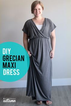 DIY Grecian maxi dress sewing tutorial.