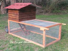 The Locust Blossom: The $42 Chicken Tractor