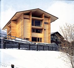 Peter Zumthor - Luzi house, Jenaz 2002. Scans via, photos (C)...