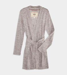 UGG® Evelynn Robe for Women | Luxurious Soft Robe at UGGAustralia.com - Knee length, blissfully soft for all seasons! @waresthemore