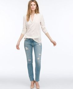 The quintessential skinny jean in a perfect ankle length. Model is & wearing a size Bottom Opening: Knee Opening: Ag Jeans, Skinny Jeans, Destroyed Jeans, Adriano Goldschmied, Ankle Length, Boutique, Legs, Denim, Model