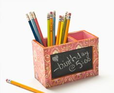 Everyone is looking to get organized this time of year. When you tend to think of getting organized, you typically think of adults first, but kids need organization help too. Here is a great project that can help get your kids organized.
