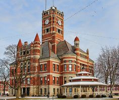 pics of american courthouses | Courthouse In Bryan Ohio Photograph - Williams County Courthouse ...