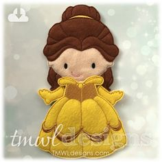 This design is perfect to accessorize your felt paper dolls. This design is available in two sizes - 4x4 or 5x7.