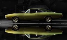 colorful pictures of muscle cars | 1968 Dodge Charger, Classic, Hemi, Mopar, Muscle