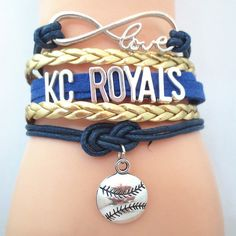Infinity Love Kansas City Royals Baseball - Show off your teams colors! Cutest Love Kansas City Royals Bracelet on the Planet! Don't miss our Special Sales Event. Many teams available. www.DilyDalee.co