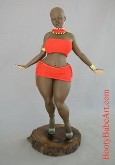 "In celebration of ""Rubenesque women"" Spencer Davis ""Masai in Red"" Black Love Art, My Black Is Beautiful, Black Figurines, Spencer Davis, Fat Art, African American Dolls, Girl Dolls, Baby Dolls, Black Artwork"